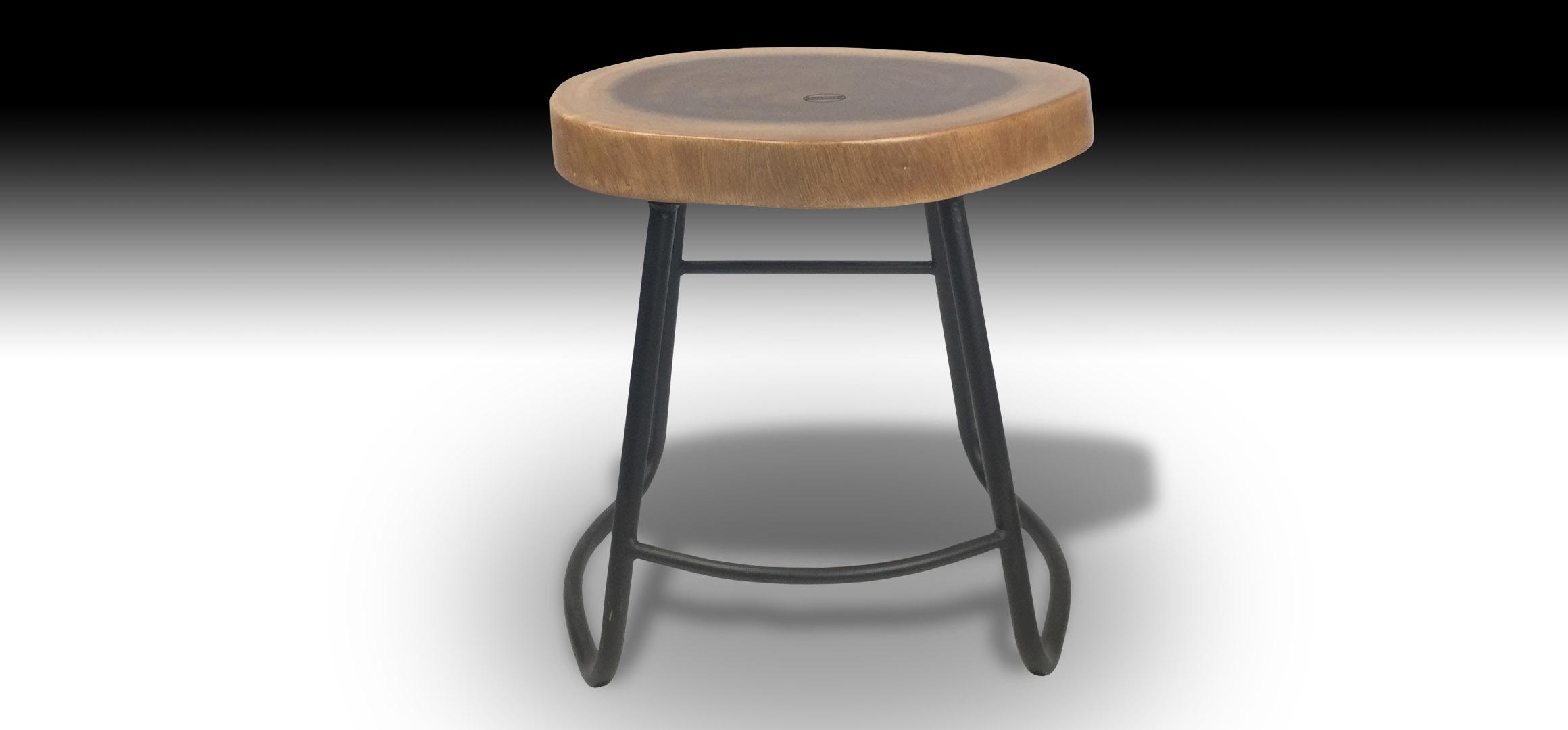 Julian Suar wood stool front view
