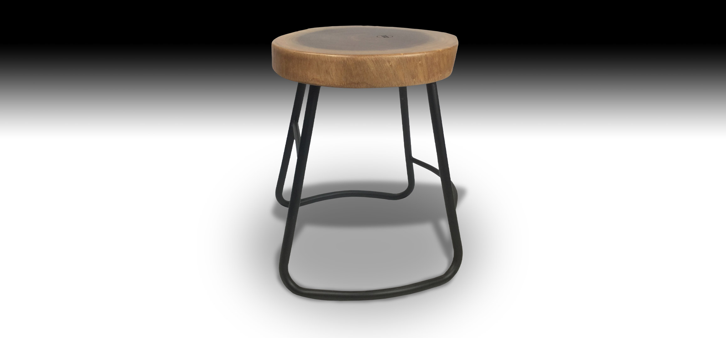 Julian Mahogany stool side view