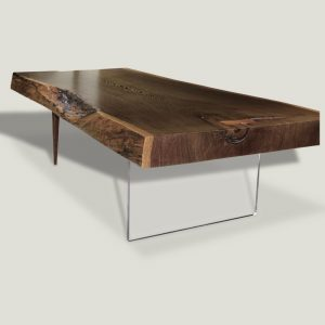 Animal live edge wooden coffee table