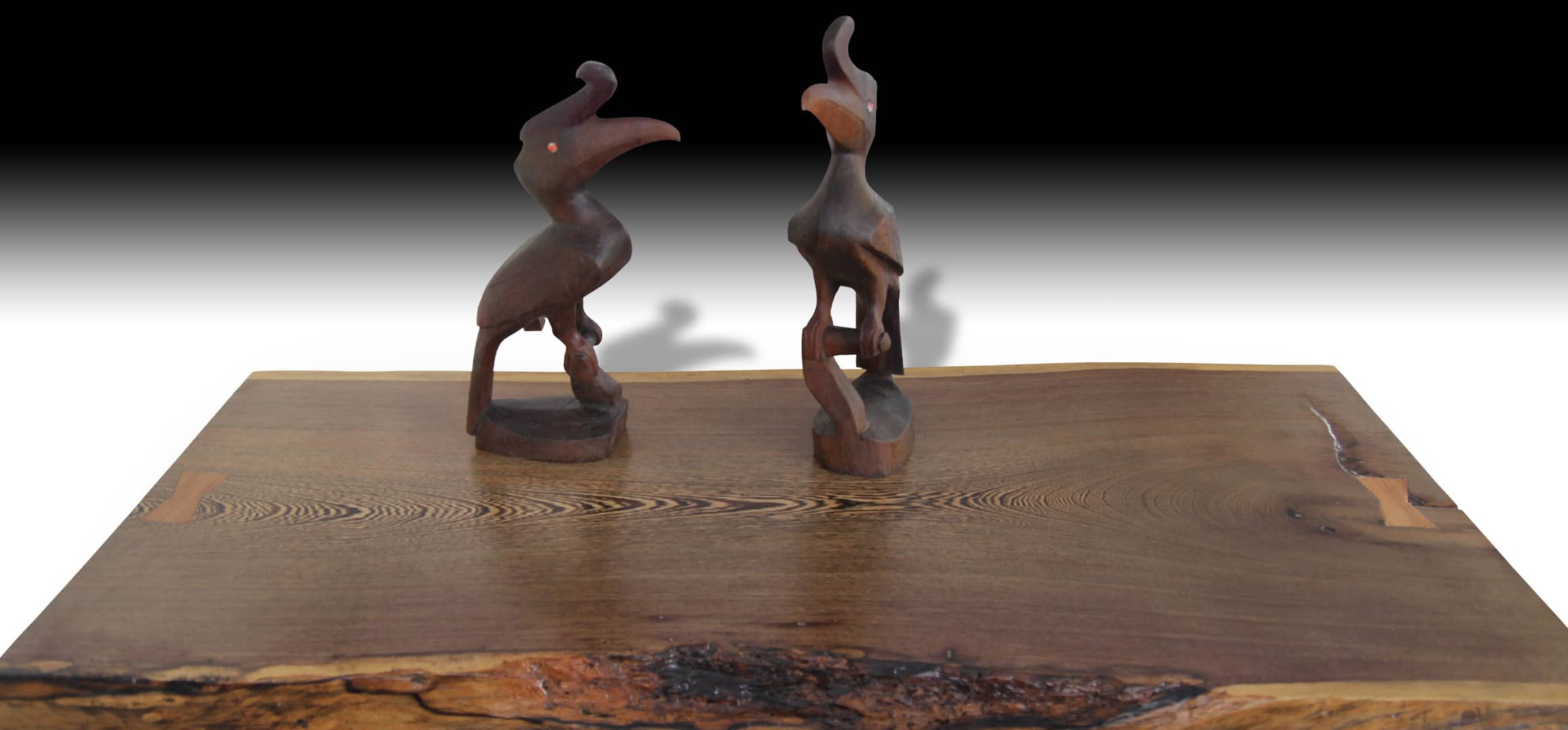 Animal live edge walnut wood coffee table 2