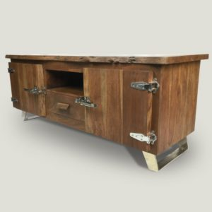 Arnold live edge Suar wood console table