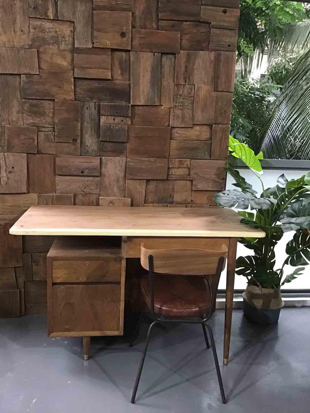 Live Edge Suar Wood Table for study