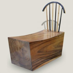Log wooden bench