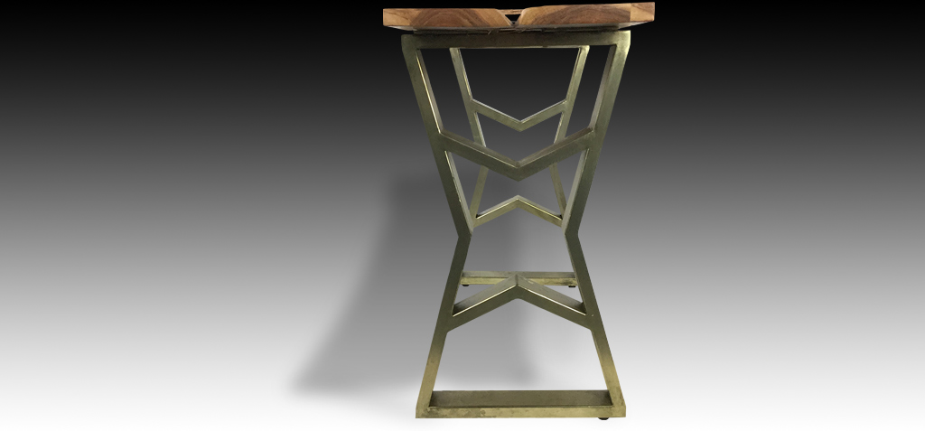 Thanya console table side view