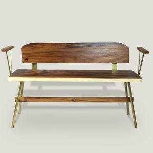 Vernon gold wooden bench