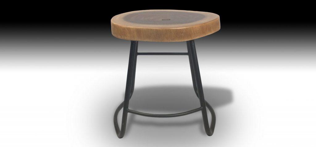 Julian Mahogany stool front view