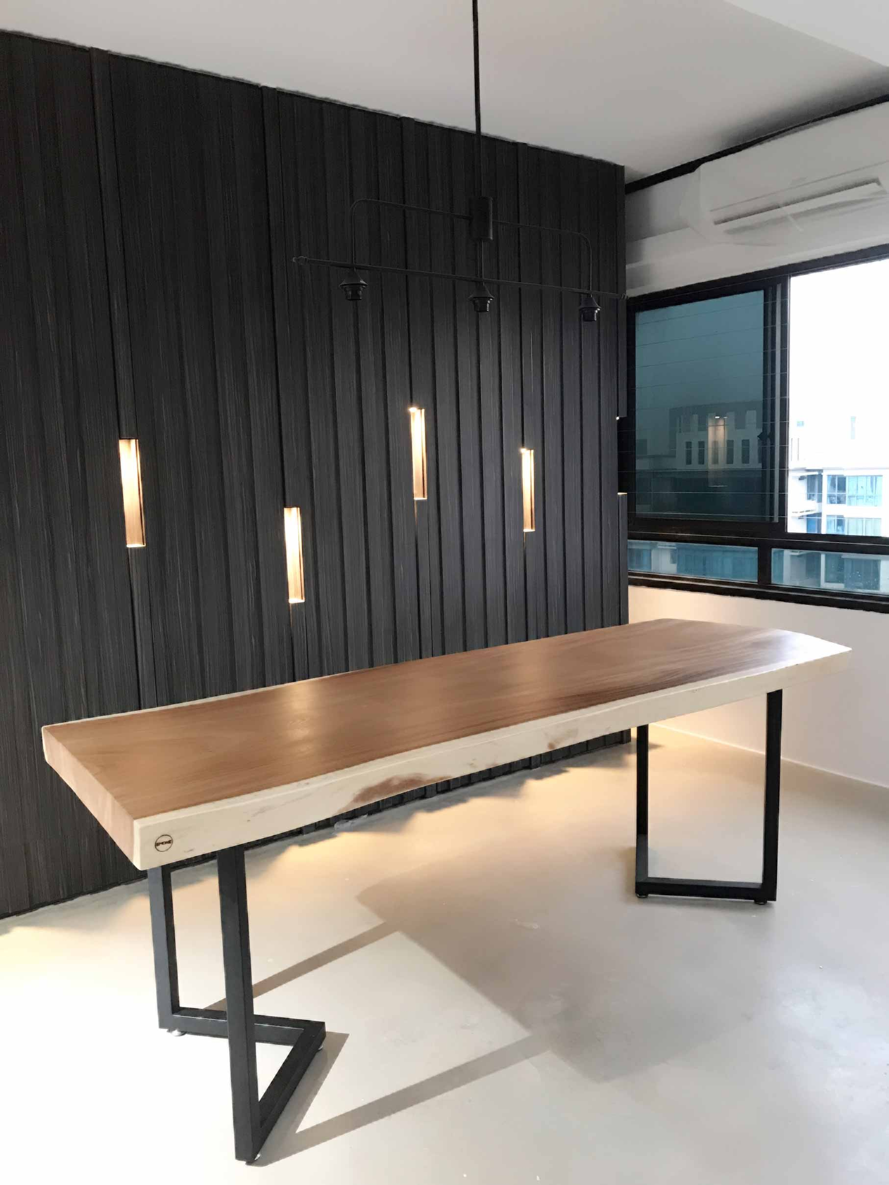 Suar Wood Dining Table at Customer House