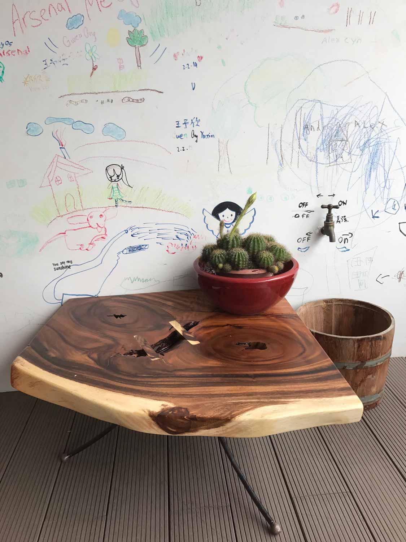 Suar Wood Side Table on Site 2