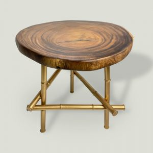 Everly Suar Wood Coffee Table Side View 1