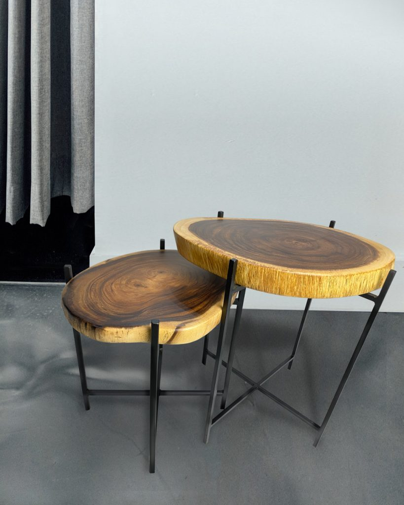 Chase Suar Wood Coffee Table Perspective View 1