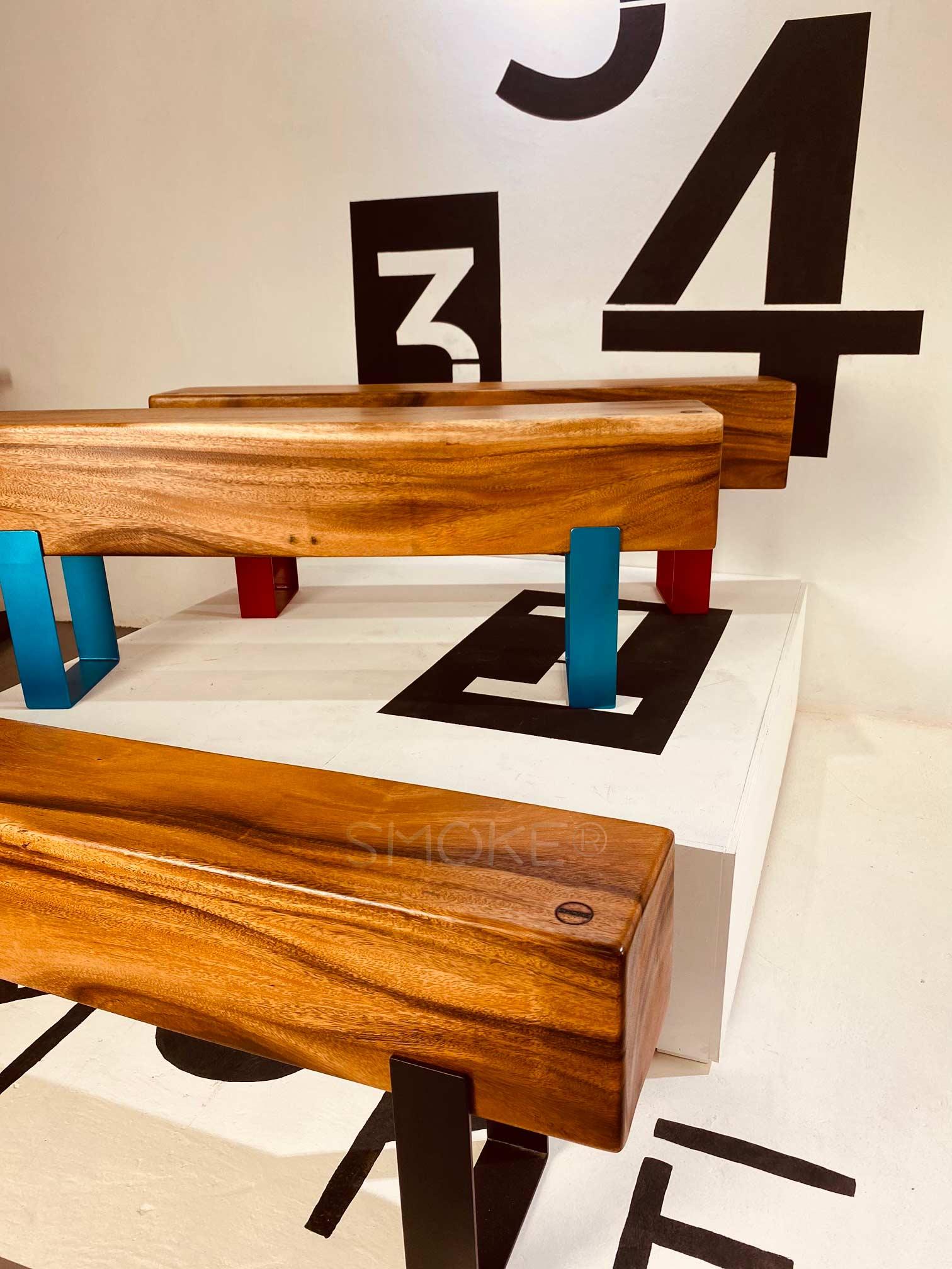 Logan Wooden Bench Perspective Display 2