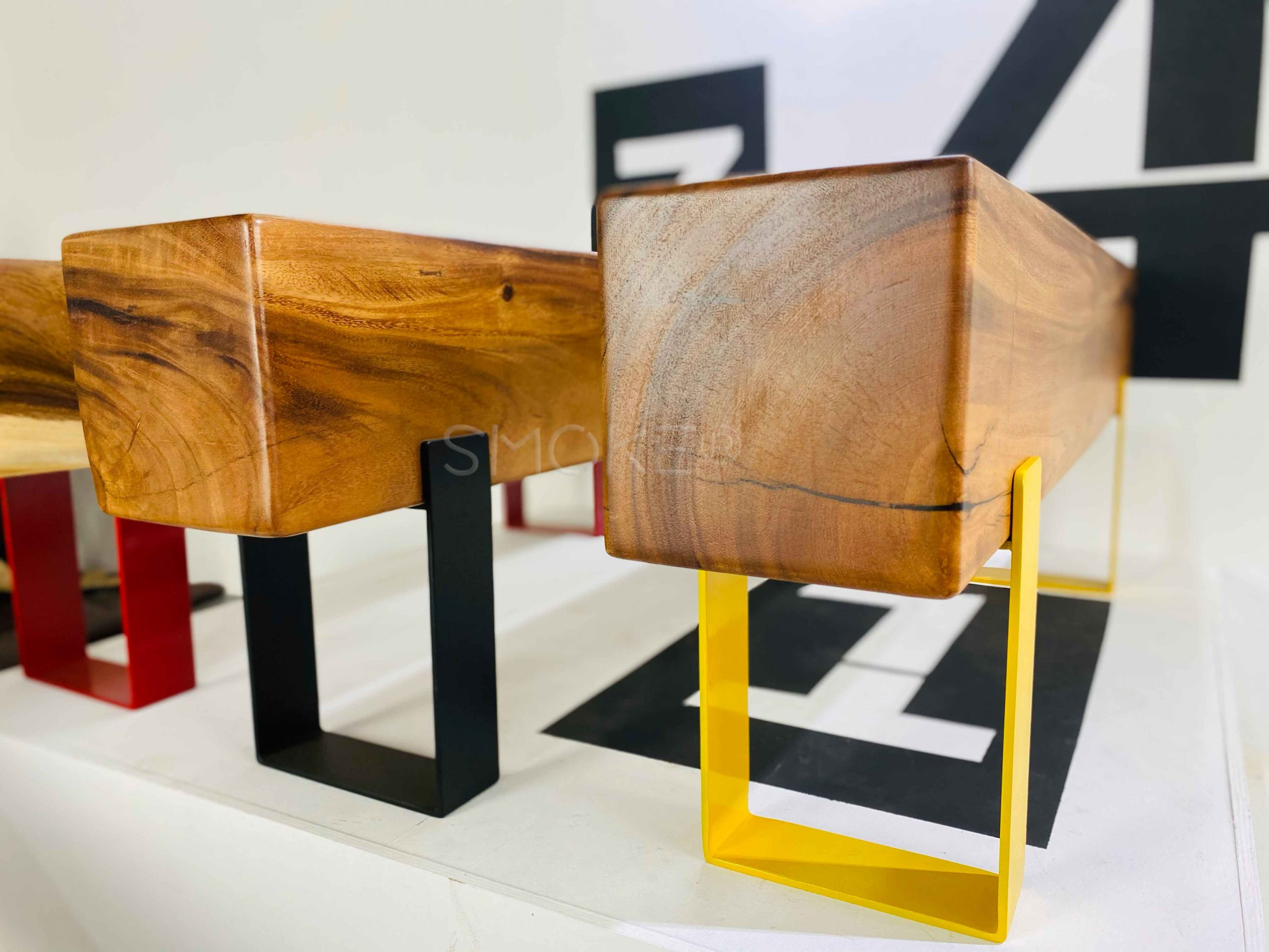 Logan Wooden Bench Perspective Display 1
