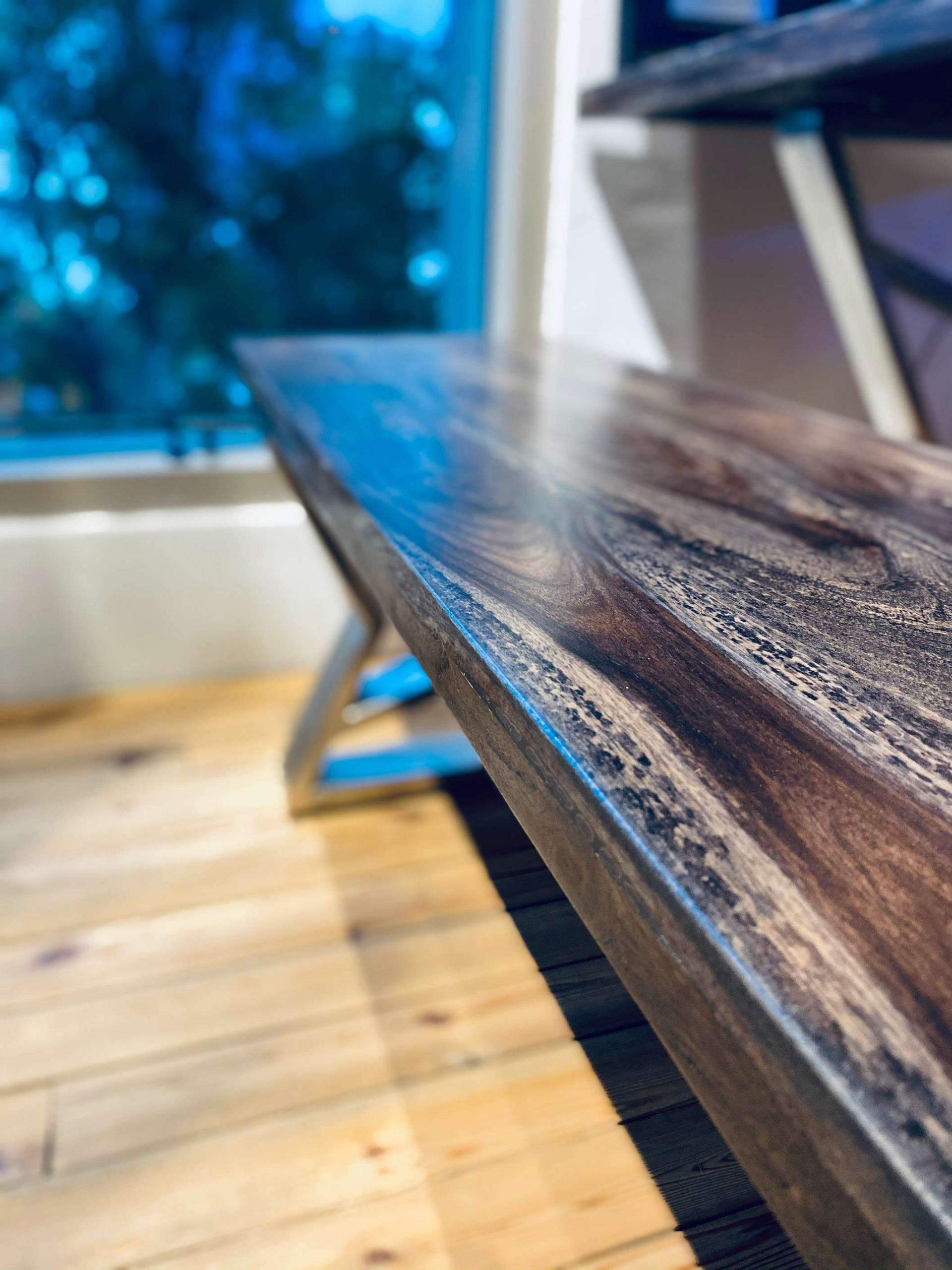 Suar Wood Table Angled View 2