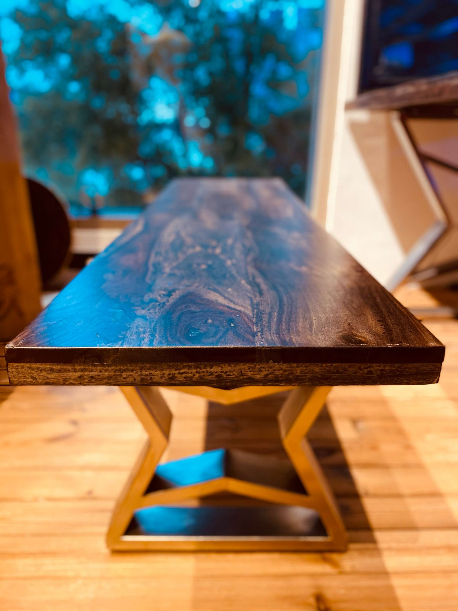 Suar Wood Table Side View