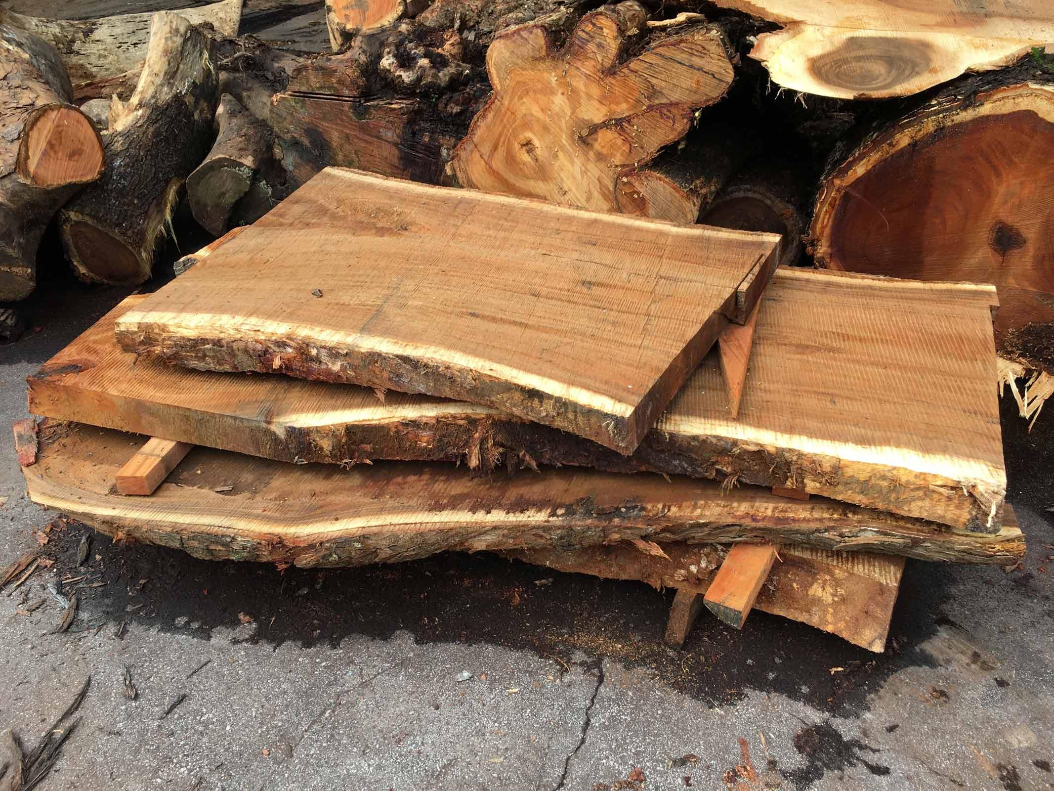 sustainable wood raw cut