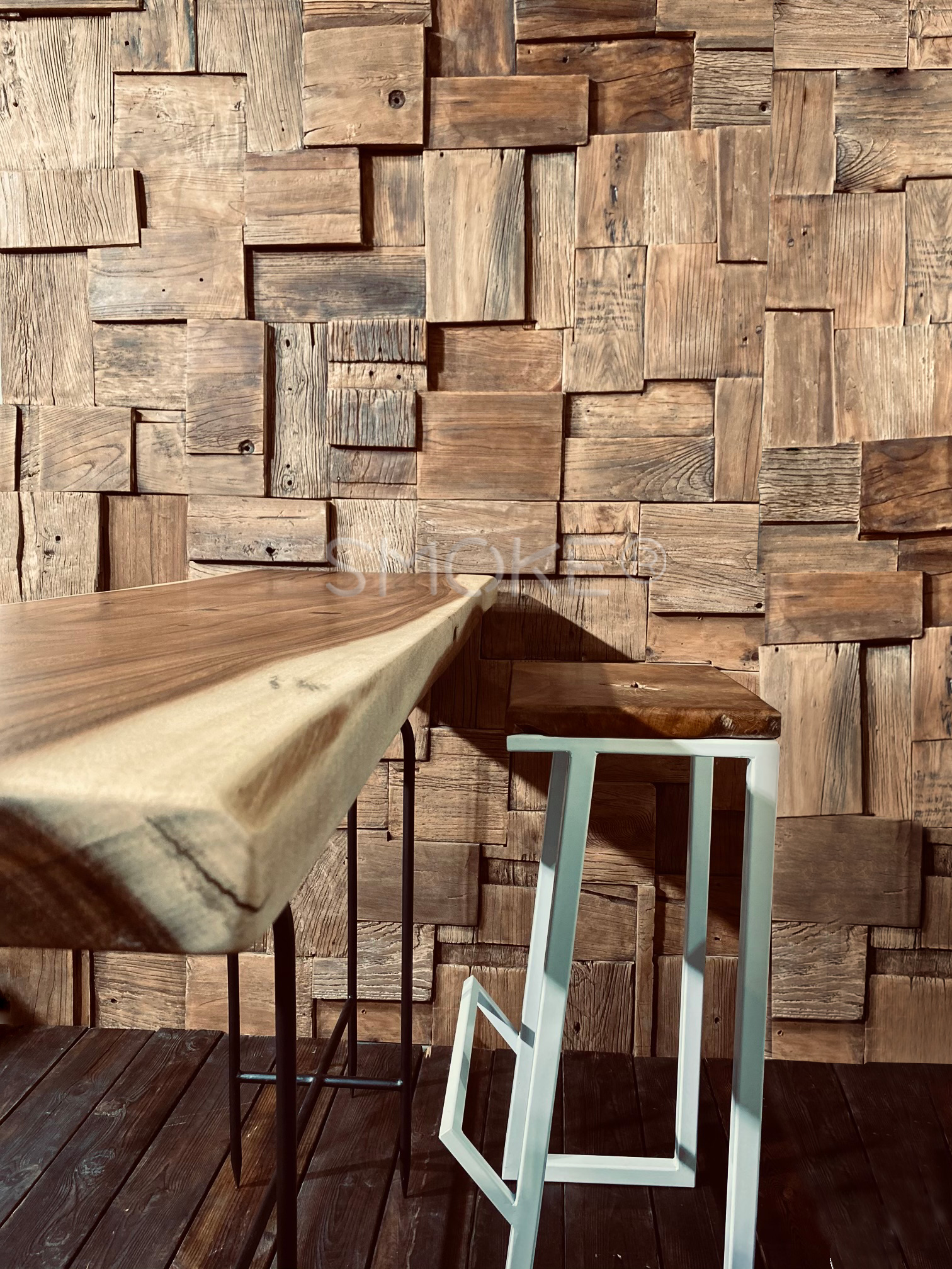 wooden console table wooden wall panel