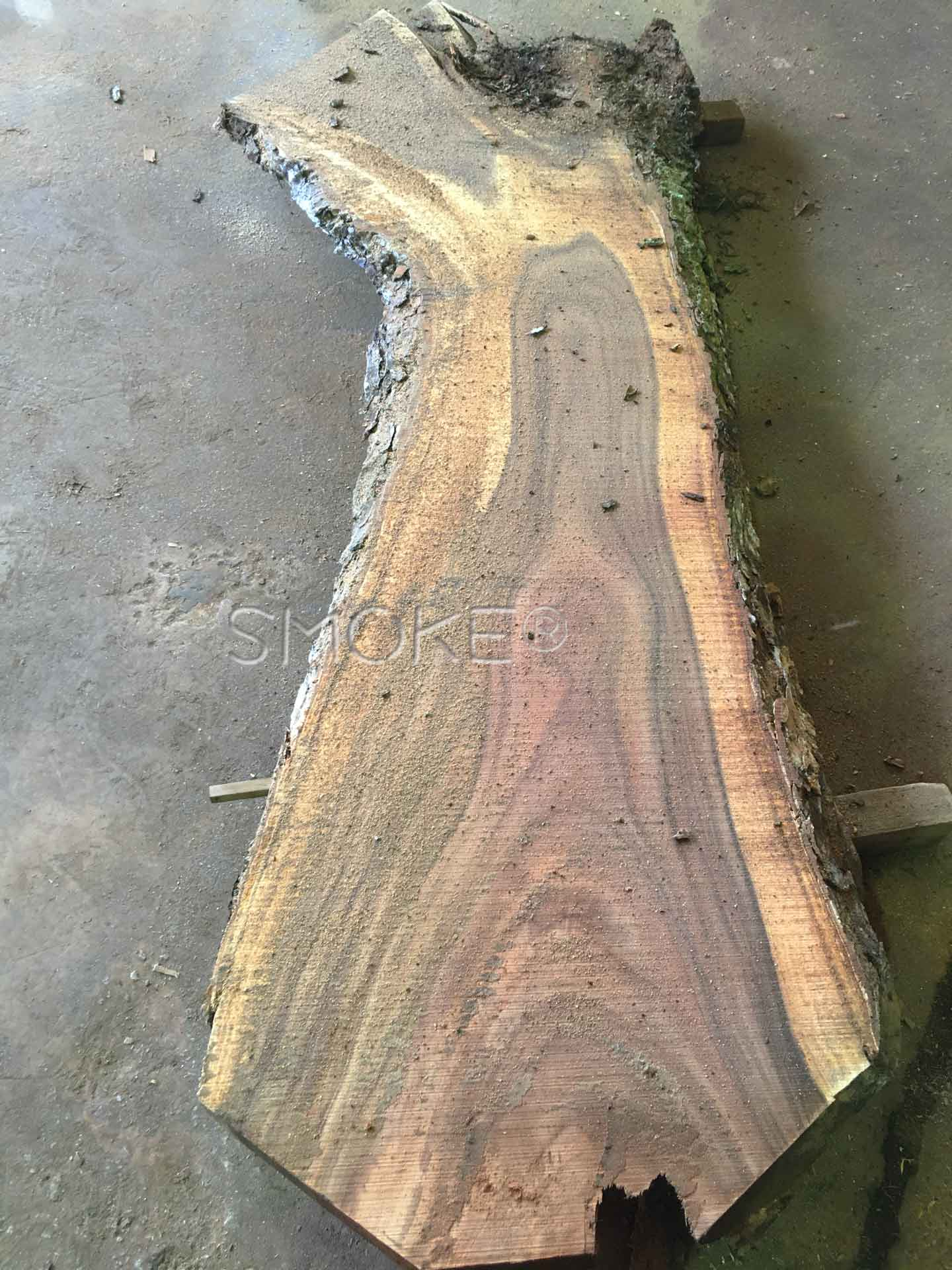 live edge table raw