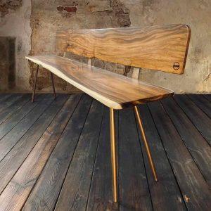 Bjorn Suar Wood Bench