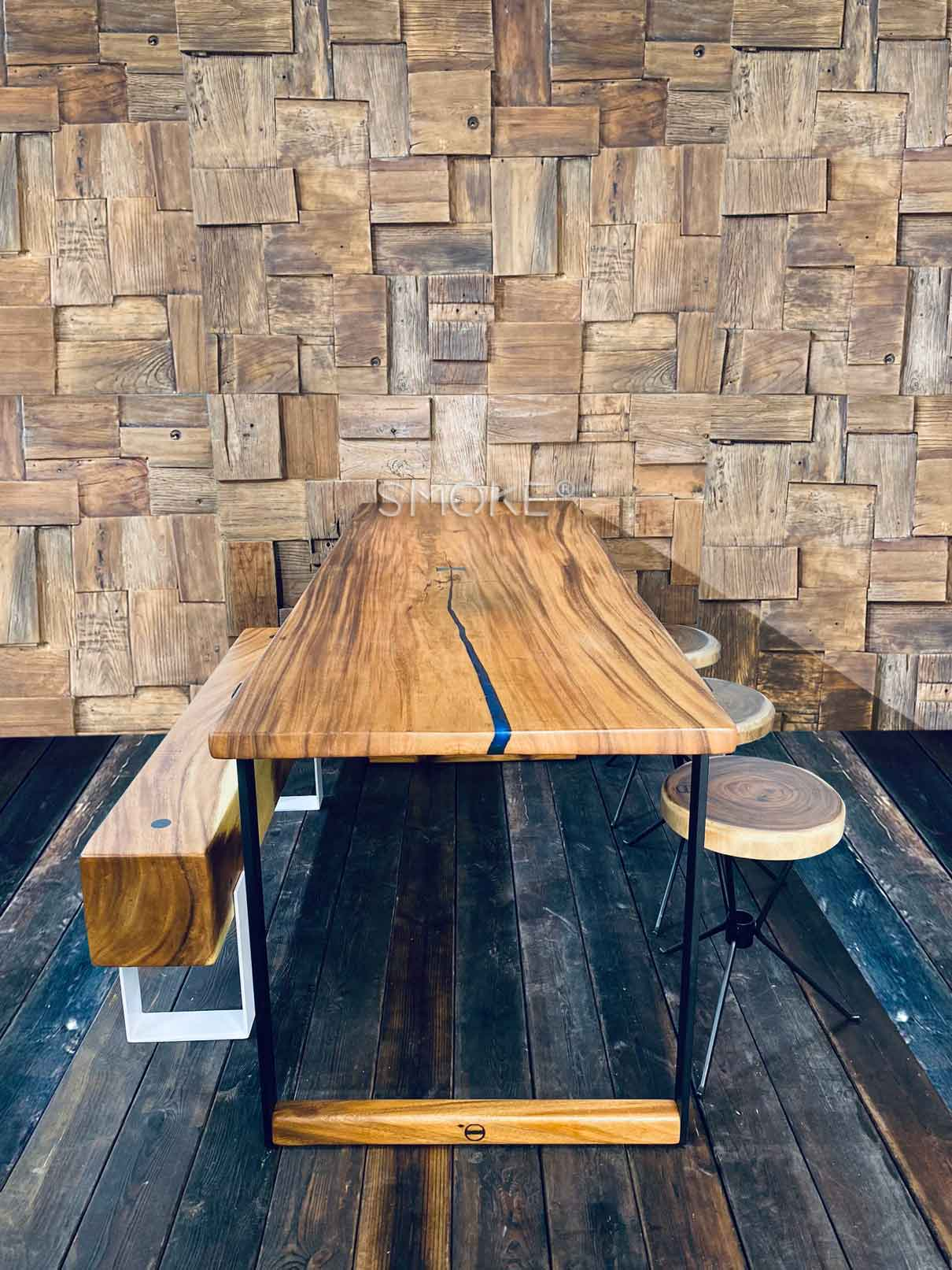 Wooden Dining Table Singapore Customise Solid Wood Slab Dining Tables