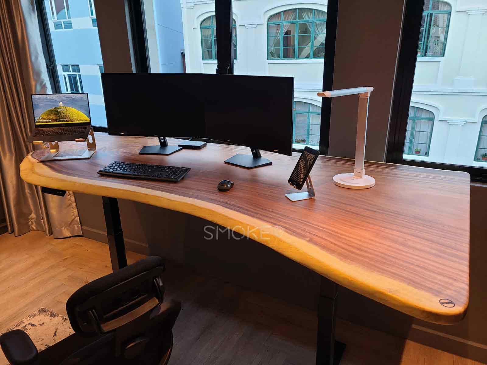 solid wood work desk