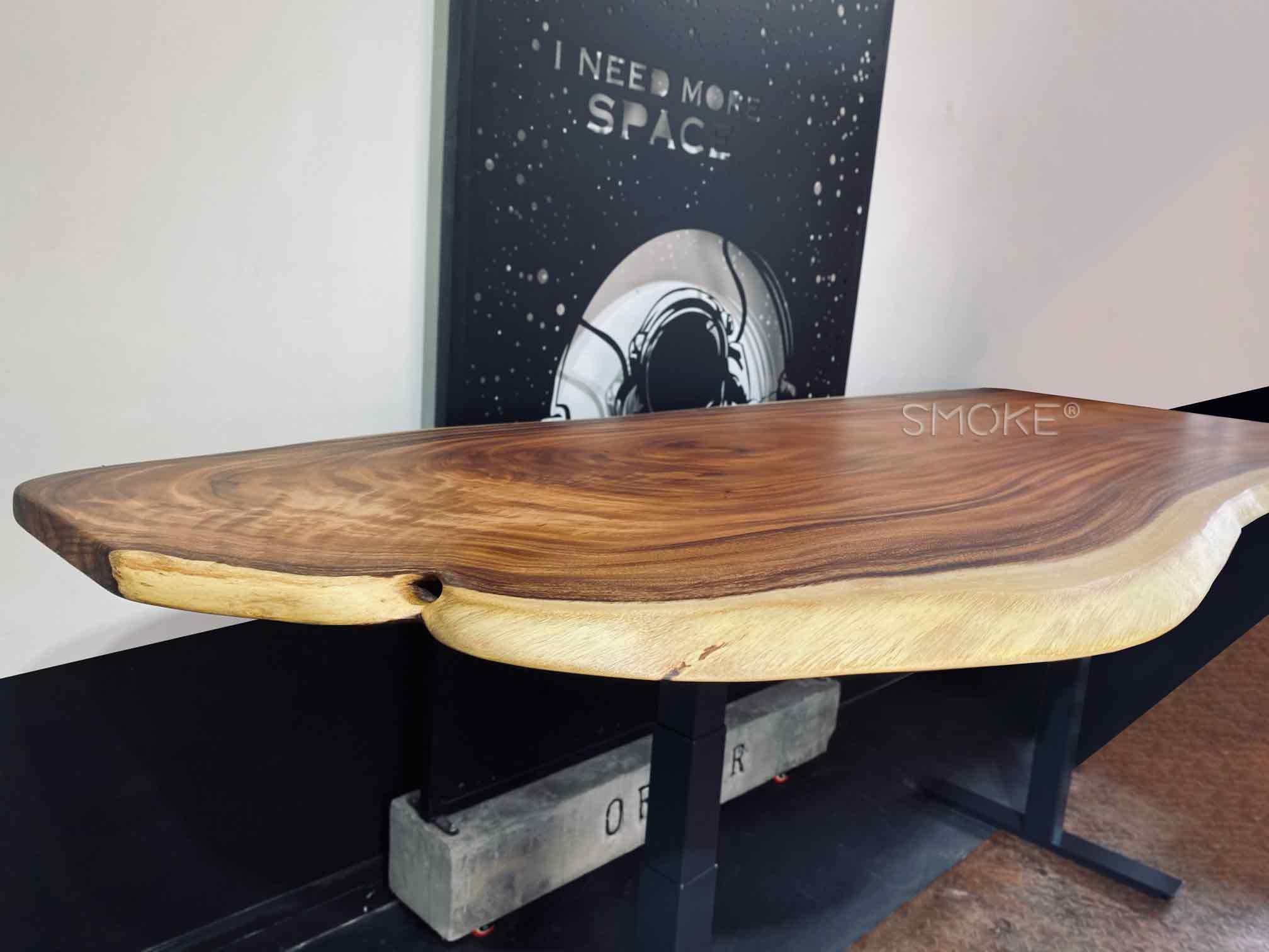 live edge solid wood work desk