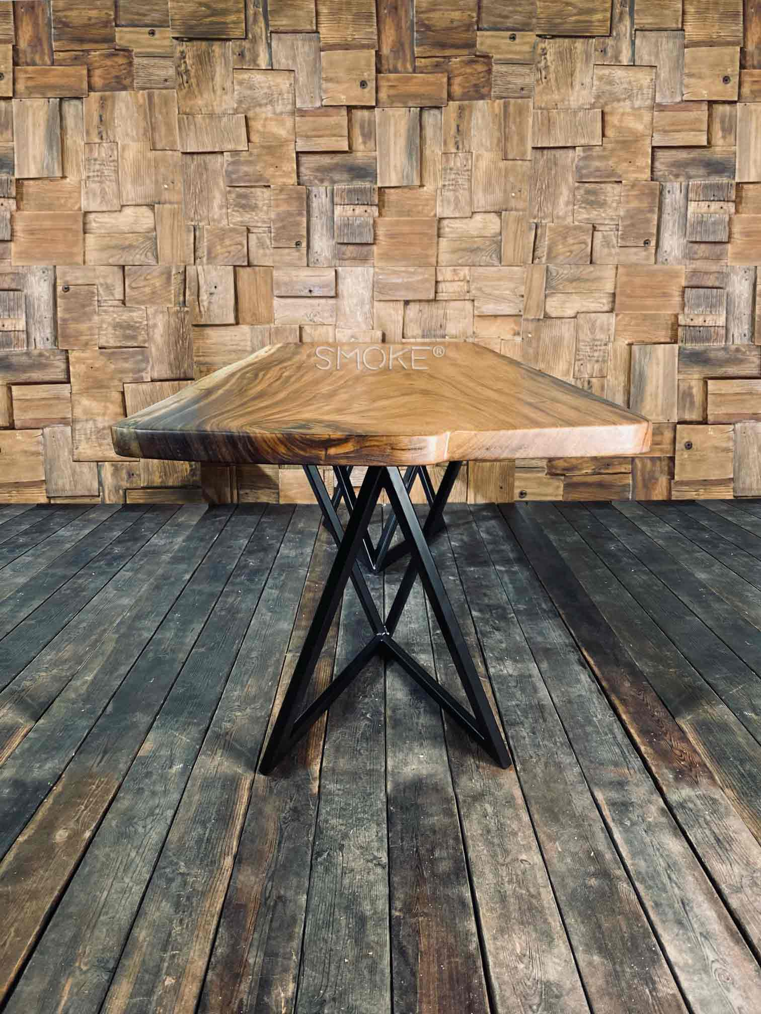 sleek wood table