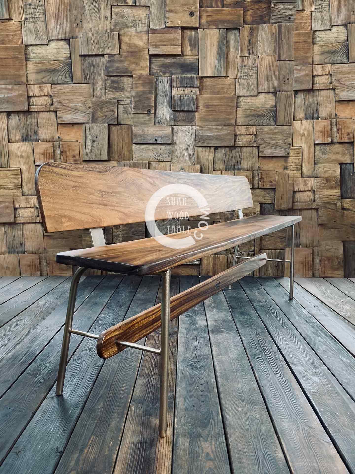 clare suar wood bench