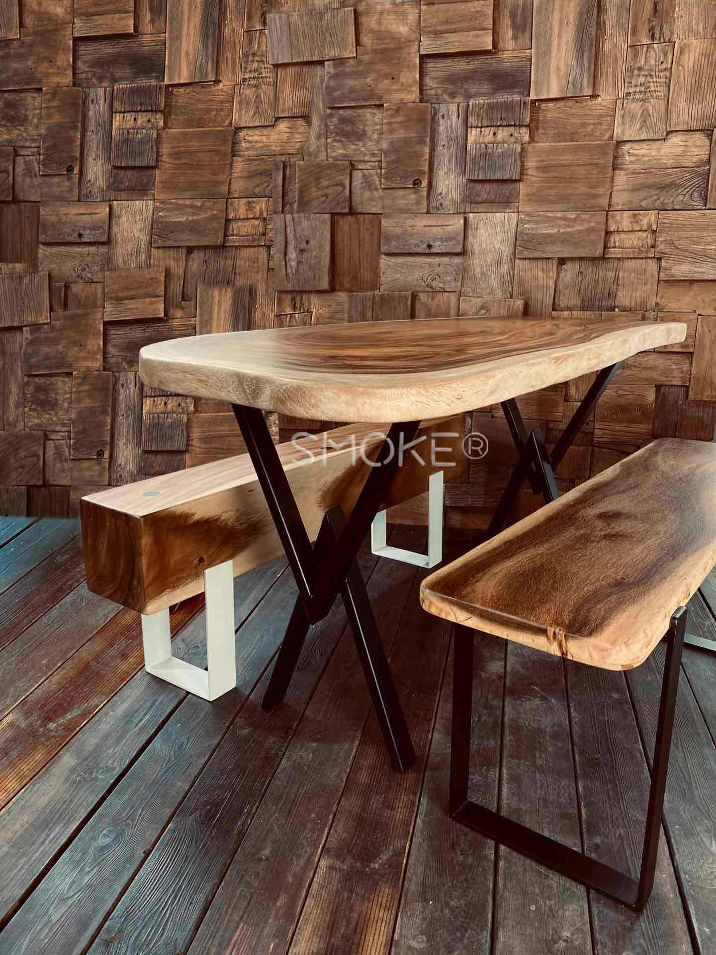 Fouke dining table w logan Tara bench