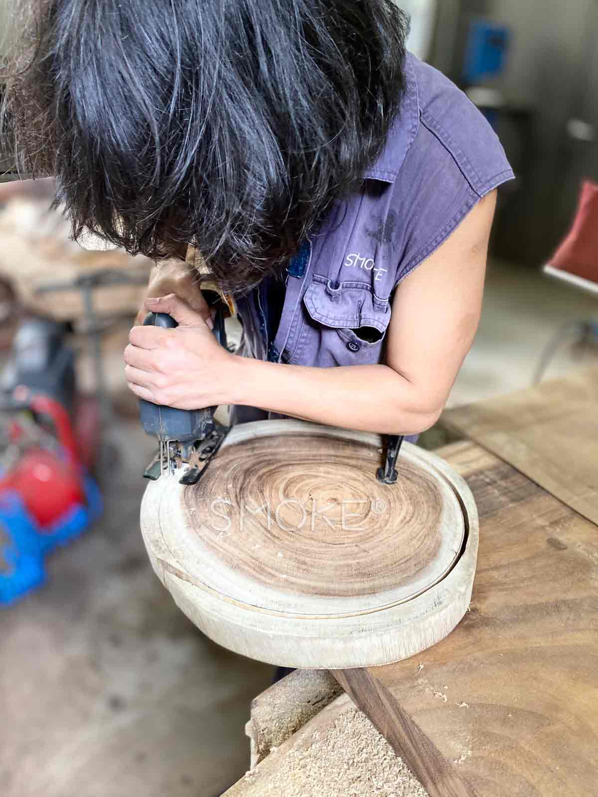 handcrafted customade stool