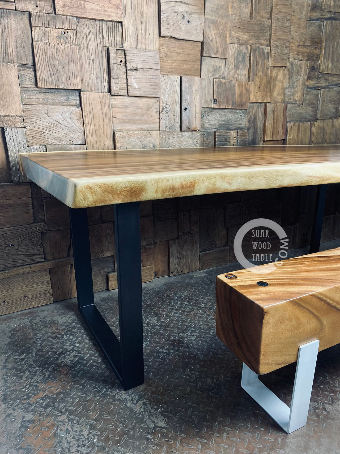 rickson dining table with bench