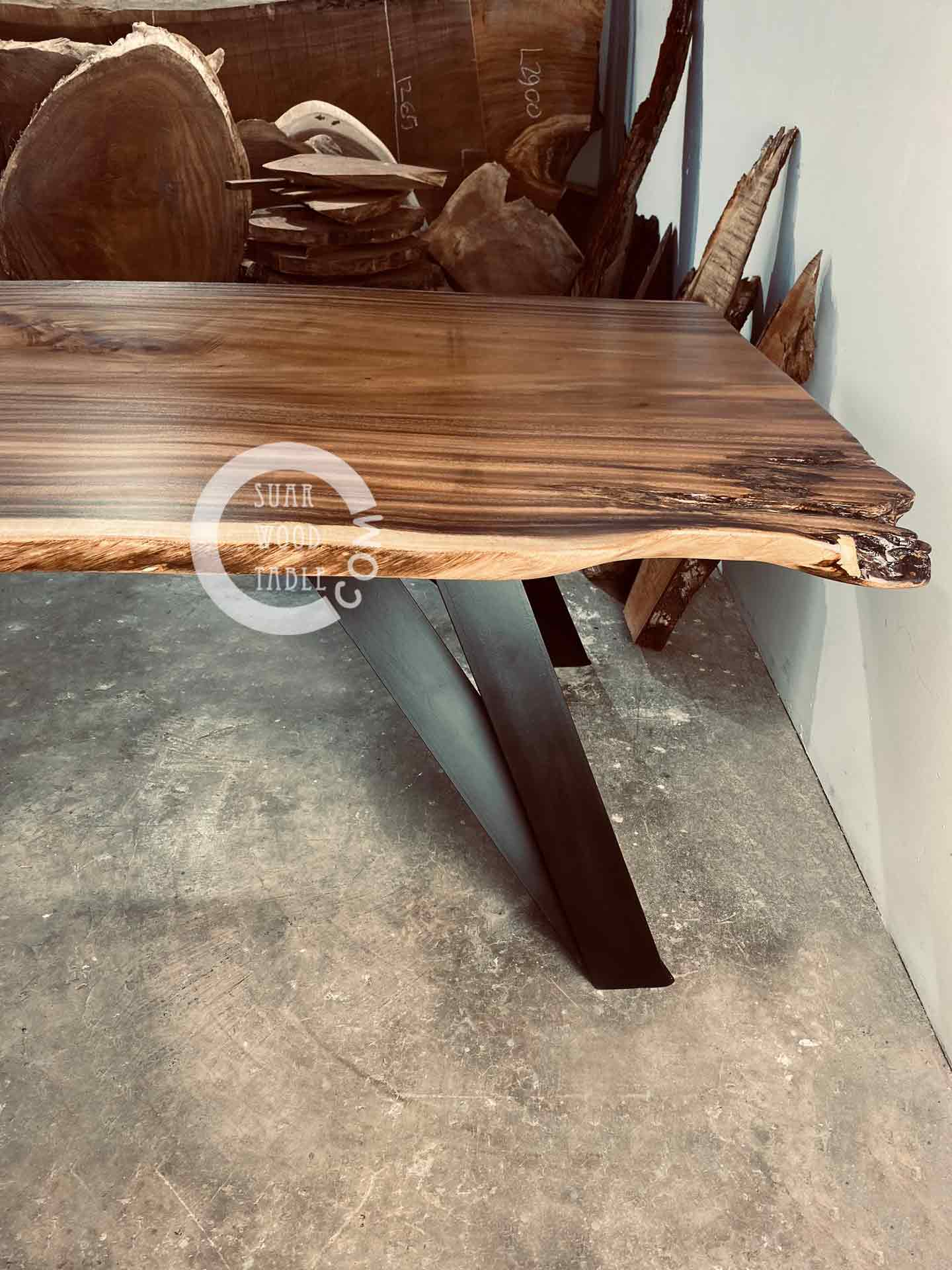 natural edge wood table