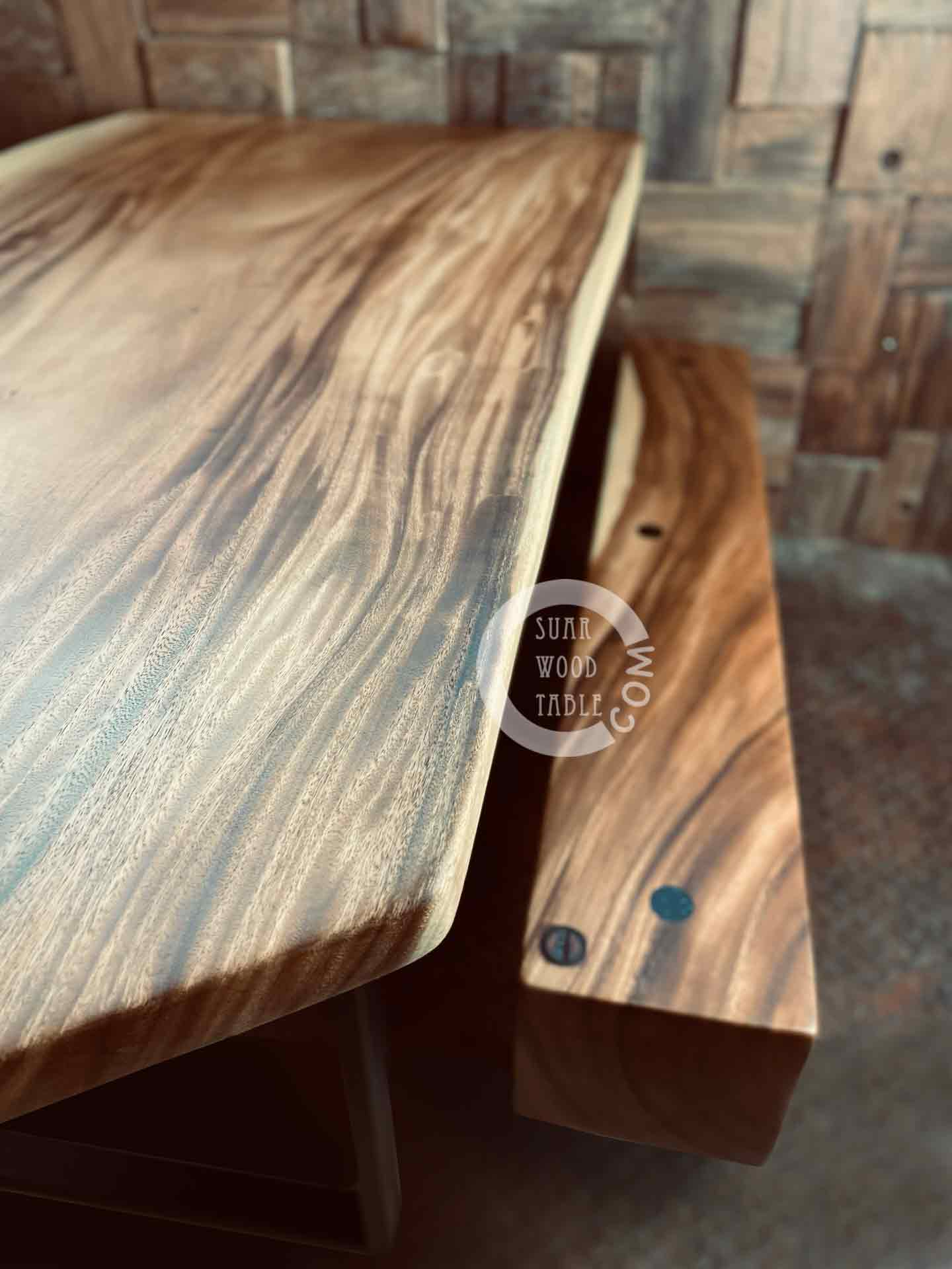 live edge wooden table