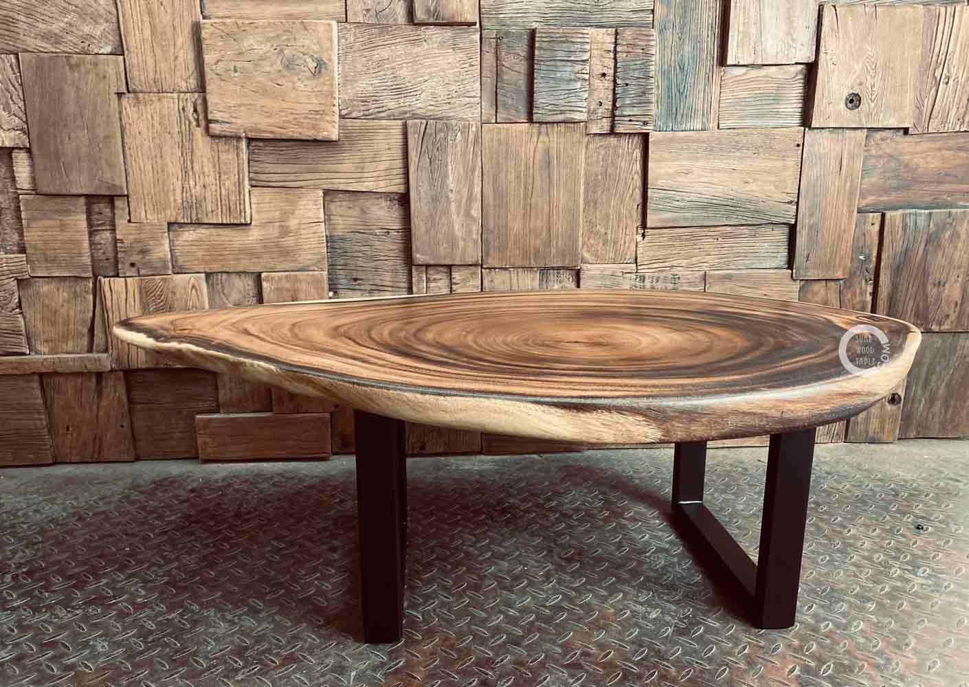 custom suar wood coffee table