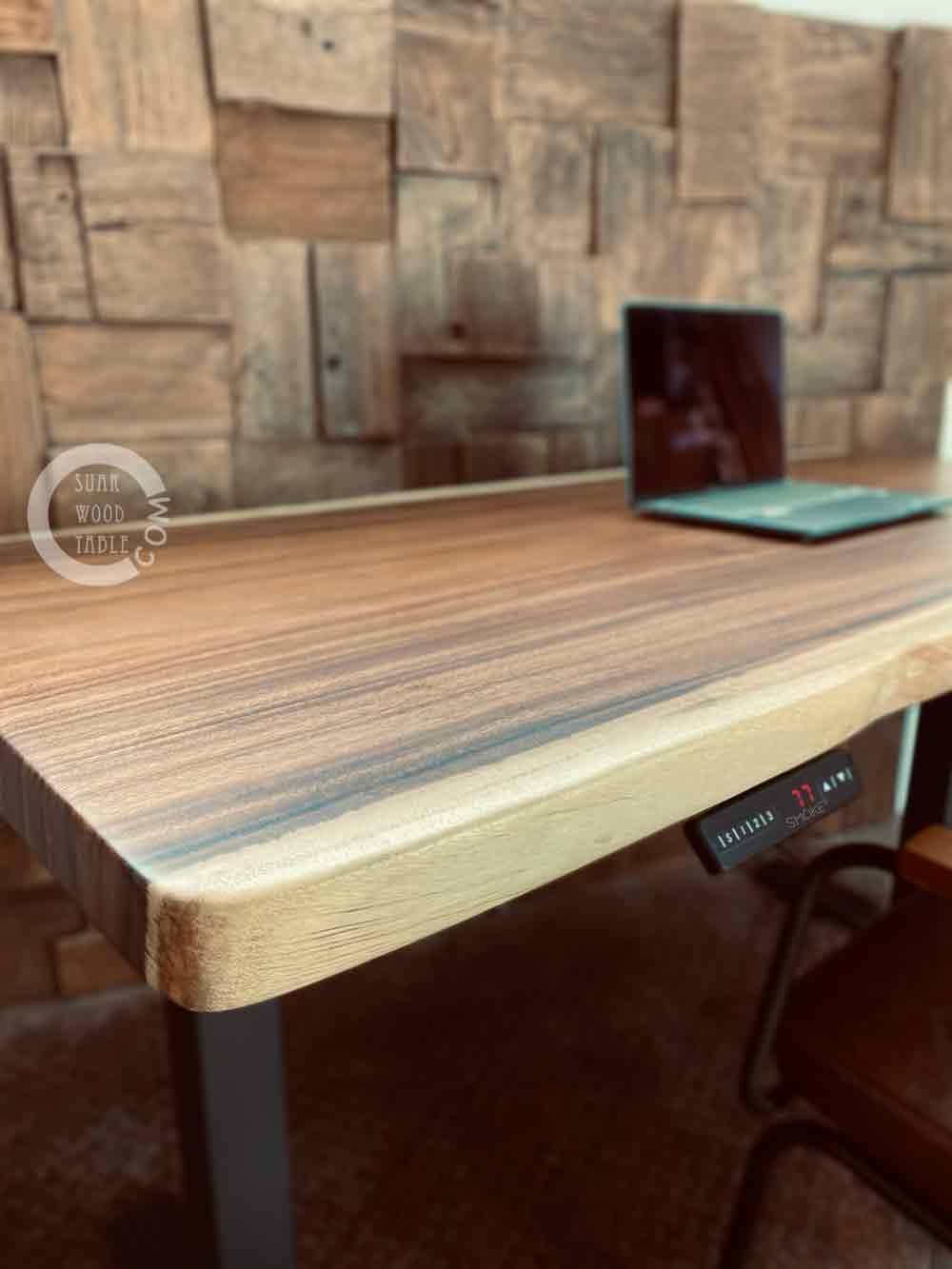 live edge study table