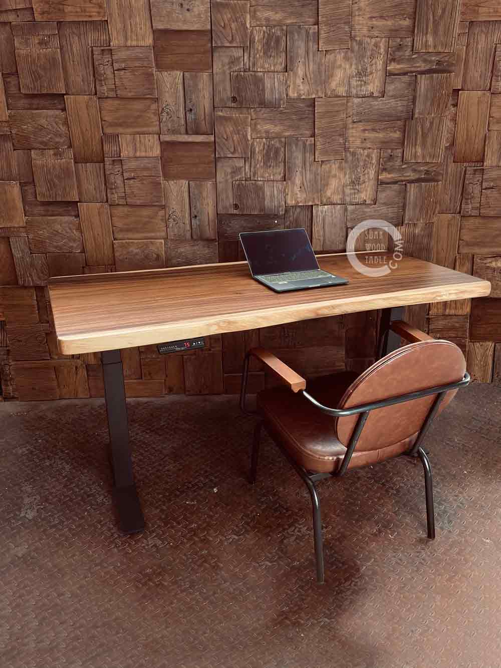 hydraulic wooden table