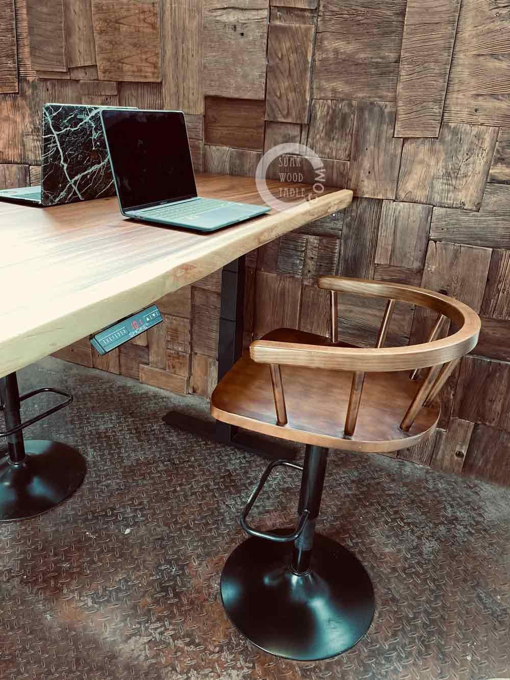 suar wood study desk