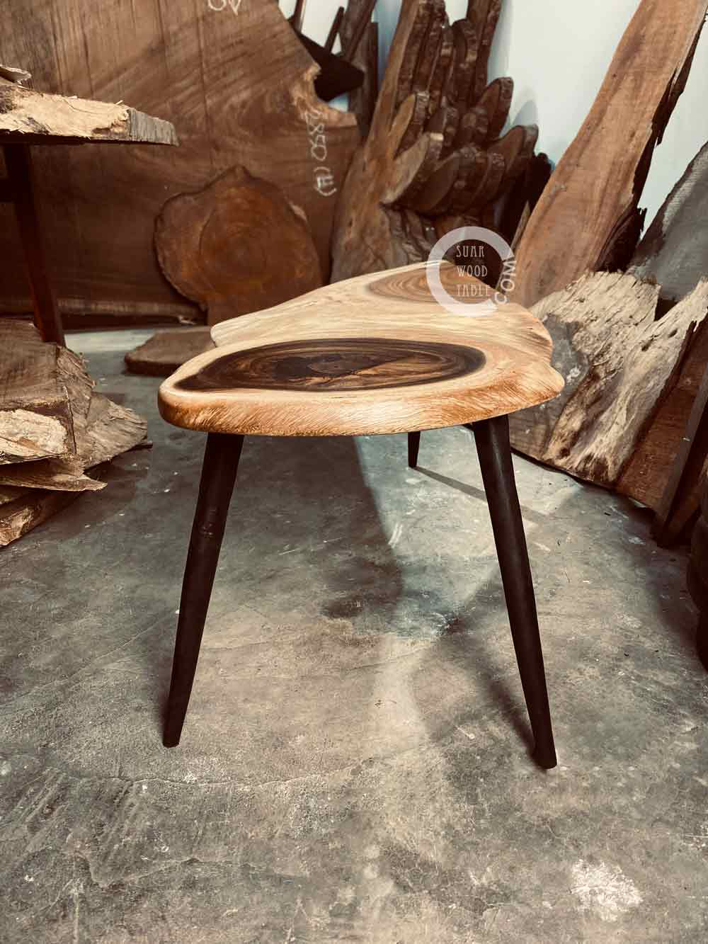 charred leg wooden coffee table