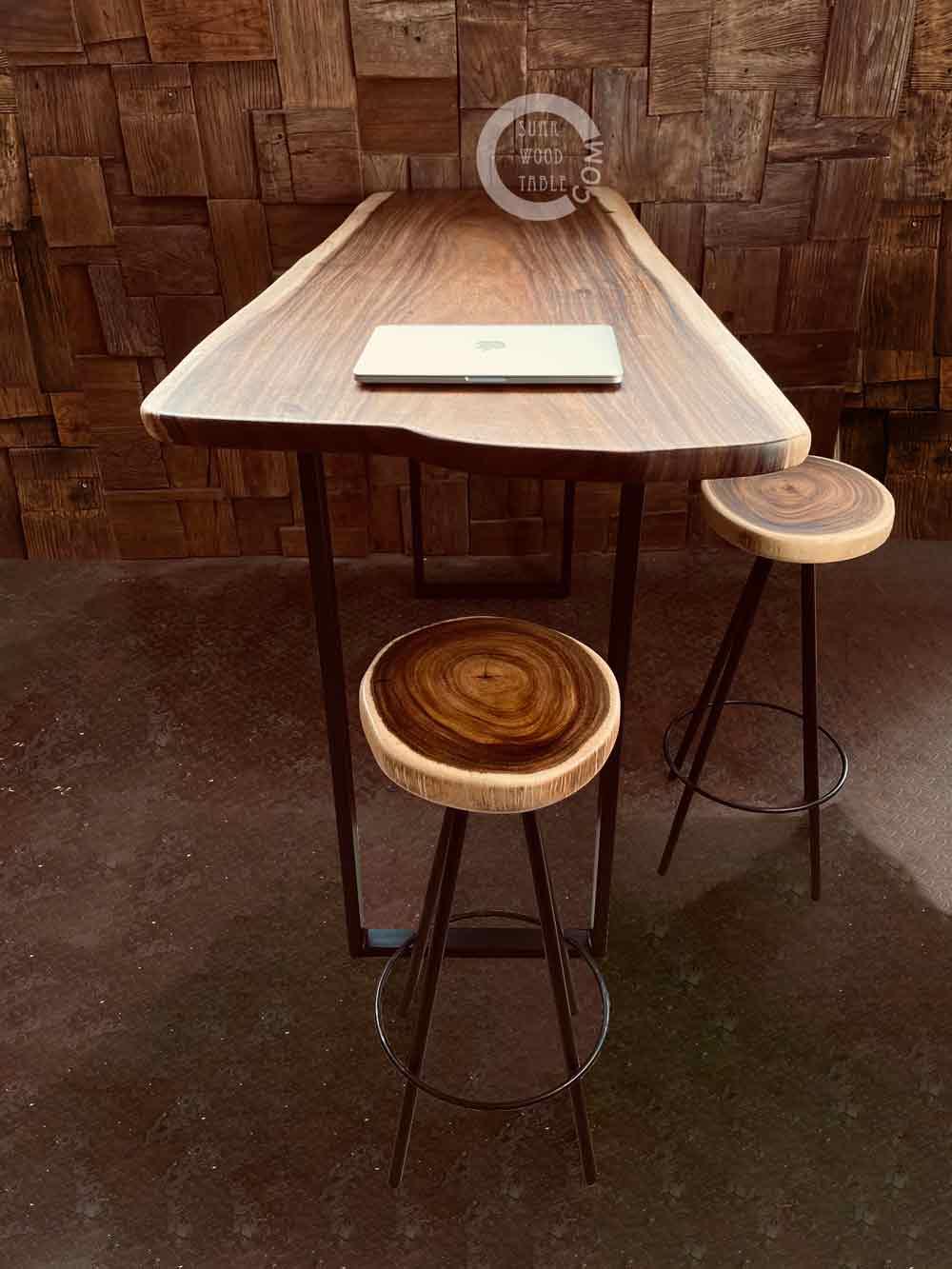 standing solid wood work desk