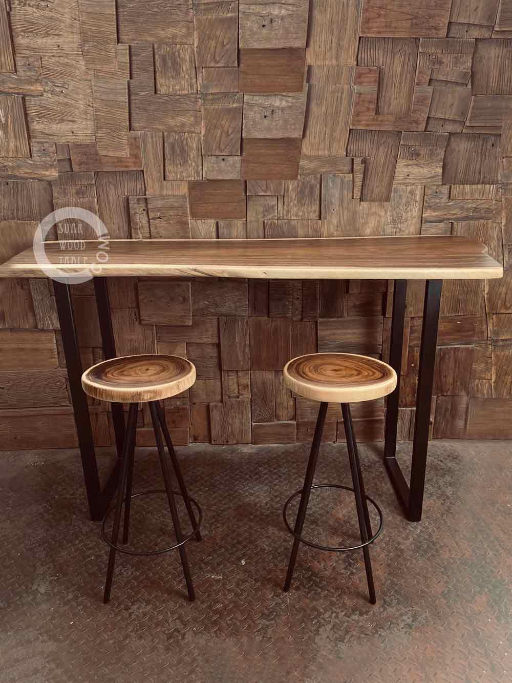suar wood console table