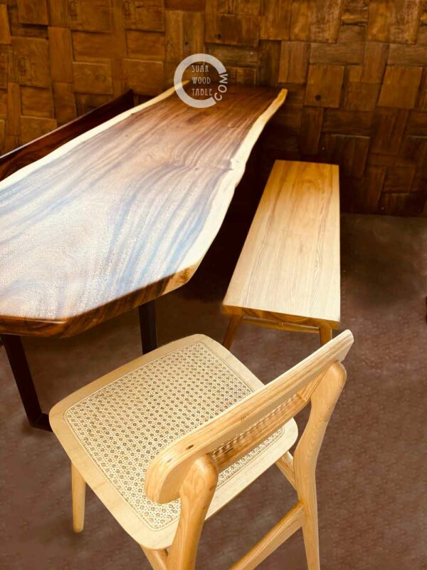 dining table with bench and chair