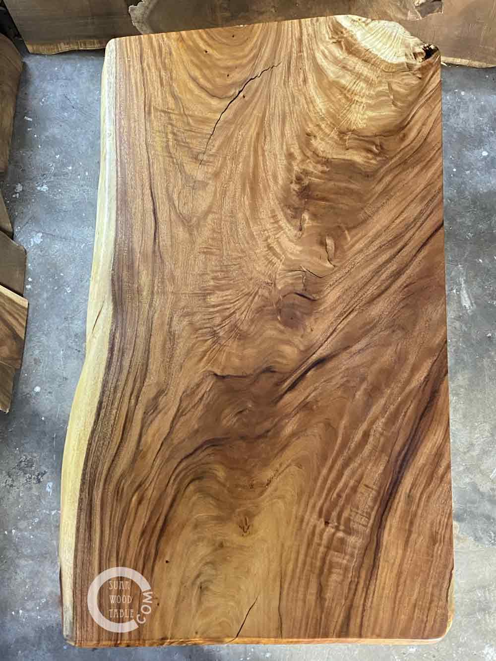 natural edge suar wood dining table