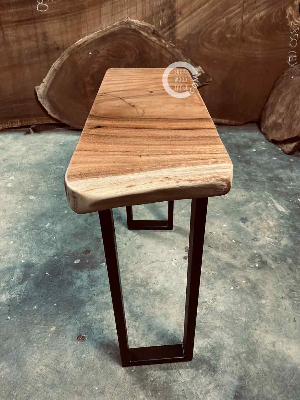 solid suar wood side table