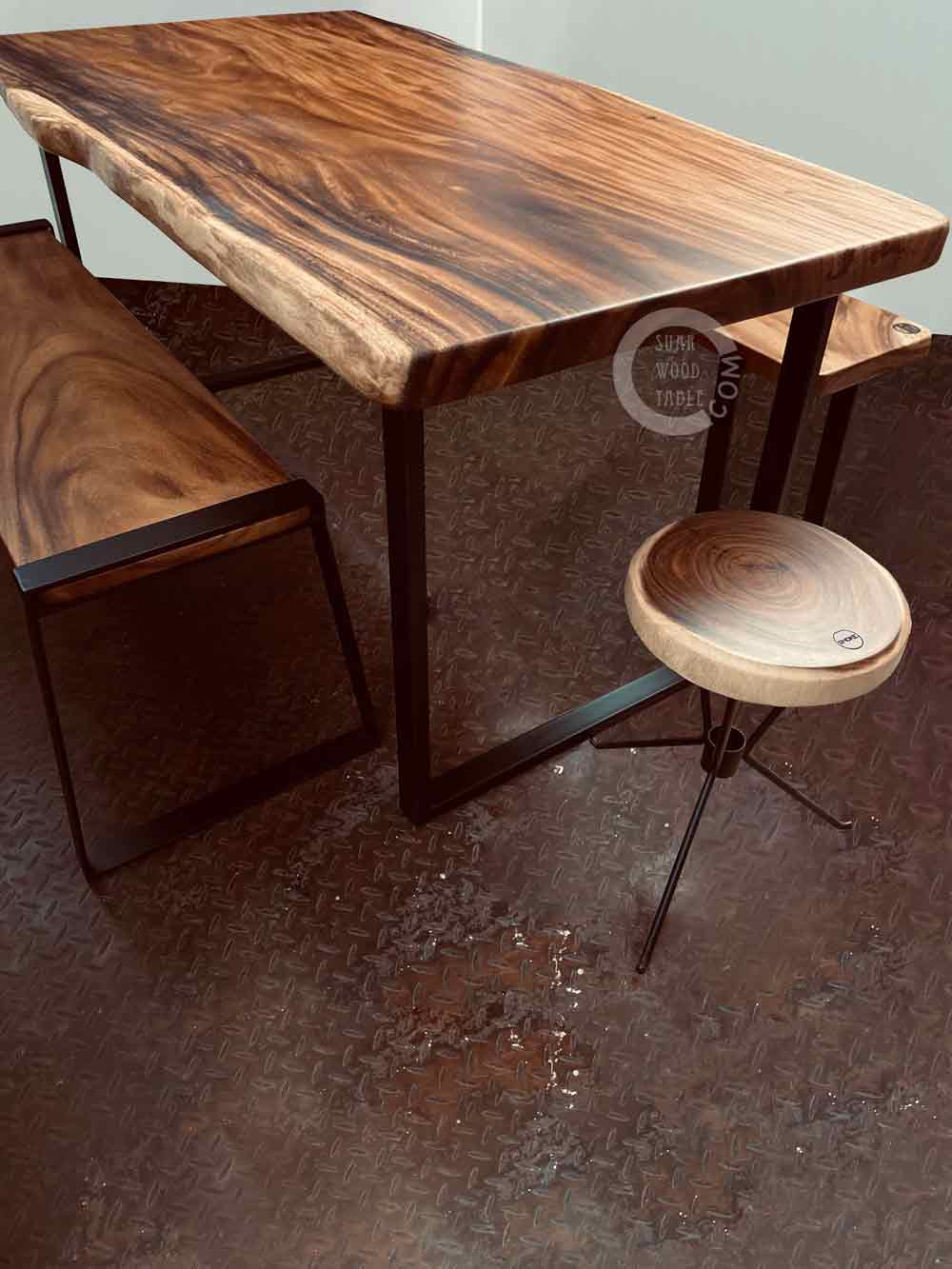 natural edge south american walnut table