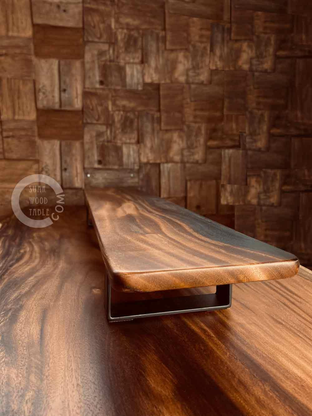 live edge suar wood dining table